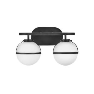 Hollis Black Two-Light Led Bath Vanity