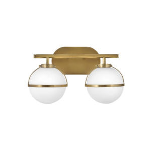 Hollis Heritage Brass Two-Light Led Bath Vanity