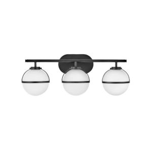 Hollis Black Three-Light Led Bath Vanity