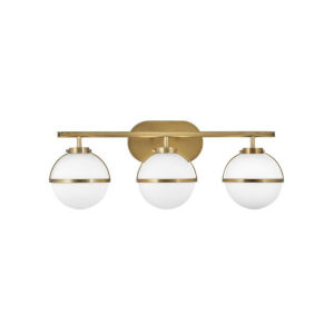 Hollis Heritage Brass Three-Light Led Bath Vanity