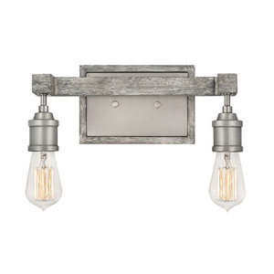 Denton Pewter Two-Light Bath Vanity