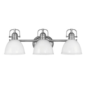 Rowan Chrome Three-Light Bath Vanity
