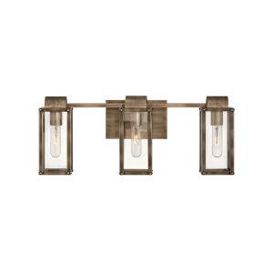 Sag harbor Burnished Bronze Three-Light Bath Vanity