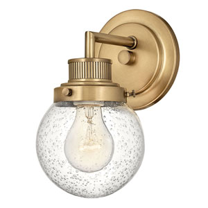 Poppy Heritage Brass One-Light Bath Sconce