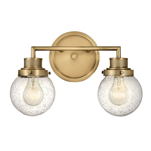 Poppy Heritage Brass Two-Light Bath Vanity