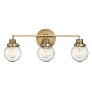 Poppy Heritage Brass Three-Light Bath Vanity