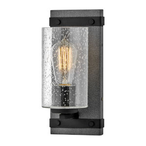 Sawyer Aged Zinc One-Light Bath Sconce