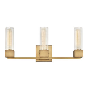 Xander Heritage Brass Three-Light Bath Vanity