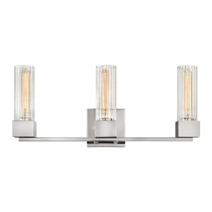 Xander Polished Nickel Three-Light Bath Vanity