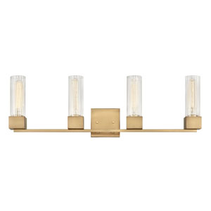 Xander Heritage Brass Four-Light Bath Vanity