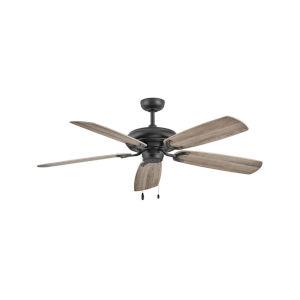 Grove Matte Black Three-Light LED 56-Inch Ceiling Fan