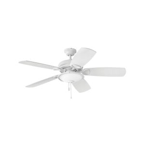 Marquis Illuminated Chalk White Three-Light LED 52-Inch Ceiling Fan