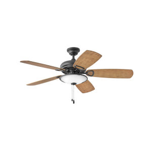 Marquis Illuminated Matte Black Three-Light LED 52-Inch Ceiling Fan