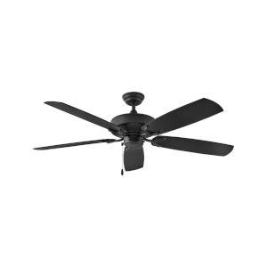 Oasis Matte Black 60-Inch Ceiling Fan
