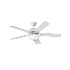 Propel Illuminated Appliance White Two-Light LED 52-Inch Ceiling Fan