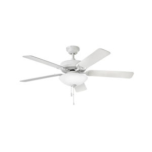 Propel Illuminated Chalk White Two-Light LED 52-Inch Ceiling Fan