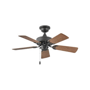 Cabana Matte Black 36-Inch Ceiling Fan