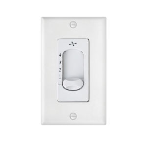 White Four-Speed Slide Wall Control