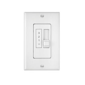 White Three-Speed Five-Amp Wall Control