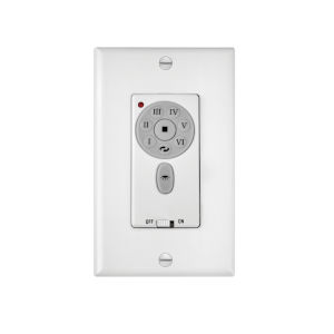 White Six-Speed DC Wall Control