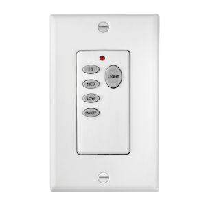 White Three-Speed Wall Control