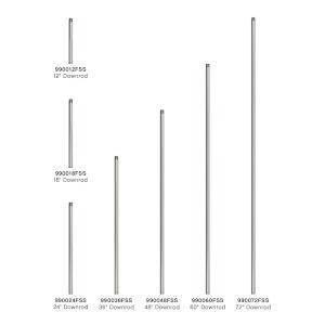 Satin Steel 12-Inch Downrod