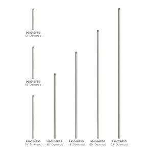 Satin Steel 24-Inch Downrod