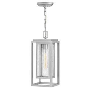 Republic Satin Nickel One-Light Outdoor Hanging Light