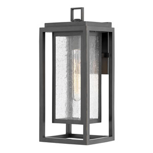 hinkley republic satin nickel one light outdoor hanging light 1002si