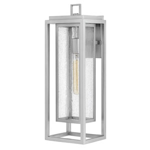 Republic Satin Nickel One-Light Outdoor Large Wall Mount