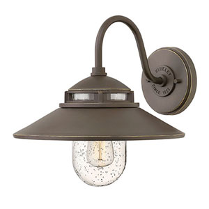 Atwell Aged Zinc One-Light Outdoor 12-Inch Small Wall Mount