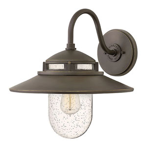 Atwell Oil Rubbed Bronze One-Light Outdoor 15-Inch Medium Wall Mount