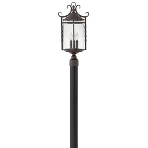 Casa Olde Black 12-Inch Three-Light Outdoor Post Top and Pier Mount