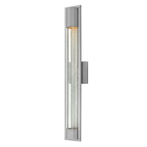 Mist Satin Black One-Light Outdoor 28.5-Inch Large Wall Mount