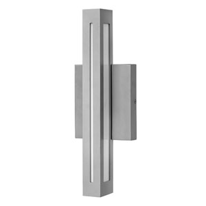 Vue Titanium One-Light LED Outdoor Wall Mount