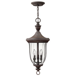 Oxford Midnight Bronze Three-Light Outdoor Pendant