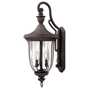 Oxford Midnight Bronze 29-Inch Three-Light Outdoor Wall Mount