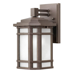 Cherry Creek Oil Rubbed Bronze 7-Inch One-Light Outdoor Small Wall Mount