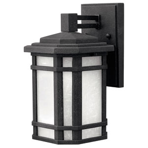 Cherry Creek Vintage Black 11-Inch One-Light Fluorescent Outdoor Wall Mount