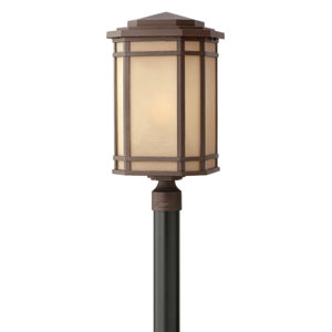 Cherry Creek Oil Rubbed Bronze 12-Inch One-Light LED Outdoor Post Mounted
