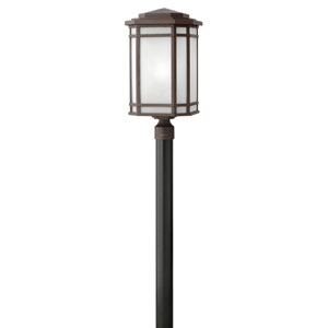 Cherry Creek Oil Rubbed Bronze 12-Inch One-Light Outdoor Post Top and Pier Mount