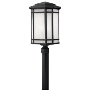 Cherry Creek Vintage Black One-Light Outdoor Post Light