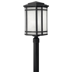 Cherry Creek Vintage Black One-Light Fluorescent Outdoor Post Light