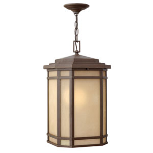 Cherry Creek Oil Rubbed Bronze 12-Inch One-Light LED Outdoor Pendant