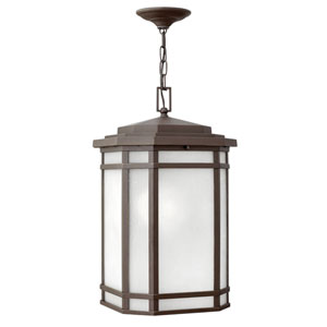 Cherry Creek Oil Rubbed Bronze 12-Inch One-Light Outdoor Hanging Pendant