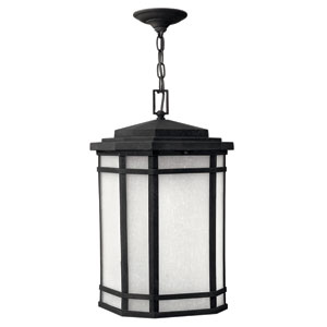 Cherry Creek Vintage Black One-Light Outdoor Pendant