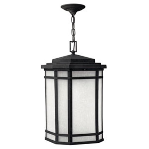 Cherry Creek Vintage Black One-Light Fluorescent Outdoor Pendant