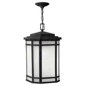 Cherry Creek Vintage Black One-Light LED Outdoor Pendant