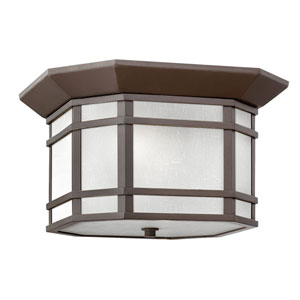 Cherry Creek Oil Rubbed Bronze 12-Inch Two-Light Outdoor Flush Mount