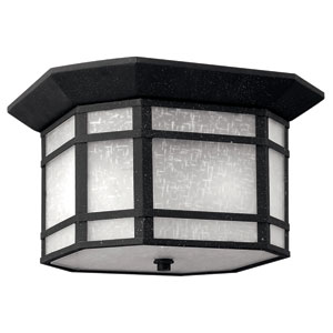 Cherry Creek Vintage Black Two-Light Outdoor Ceiling Light